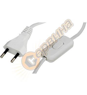 Захранващ кабел за нощна лампа Commel C0112 - 2,5 A, бял, 2