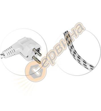 Захранващ кабел текстилен Commel C0333 - 6 A, 2 м