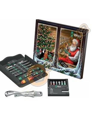 Комплект инструменти с коледен календар Wera 136602 - 24 час