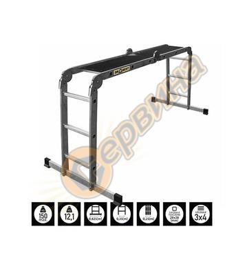 Многофункционална стълба с платформа Drabest - 4х3