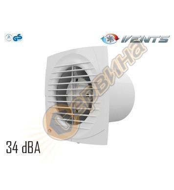 Вентилатор Vents 100-125 D - квадрат без клапа 4012100
