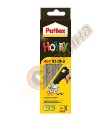 Силиконови пръчки-патрони - прозрачни за горещо лепене Patte