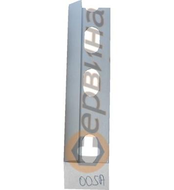 Ъглова външна лайсна PVC 8мм. 2,5м. 005А