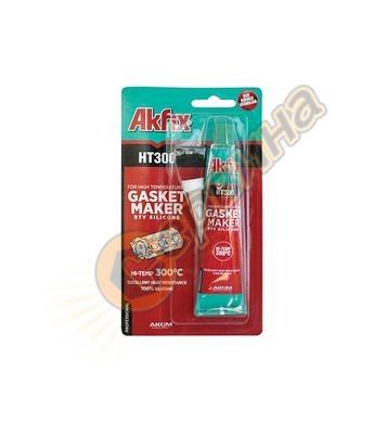 Силикон ТЕРМО RTV Akfix HT300 черен 50мл HT300/SA113