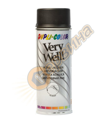 Акрилна боя спрей - черен мат Dupli Color Very Well RAL9005