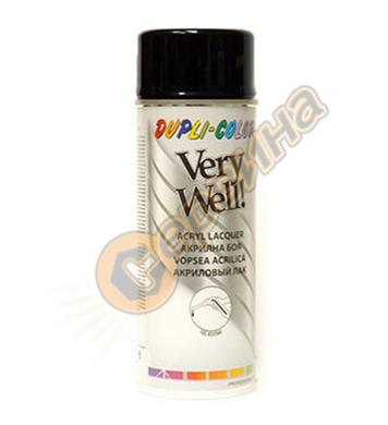 Акрилна боя спрей - черен гланц Dupli Color Very Well RAL900