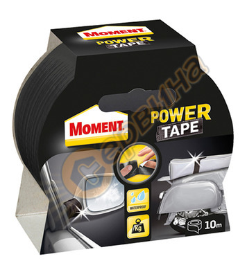 Армирана лента- черно Moment Powertape 10м. DE10094