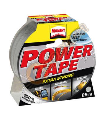 Армирана лепяща лента - Сребърна Moment Power Tape DE10095 -