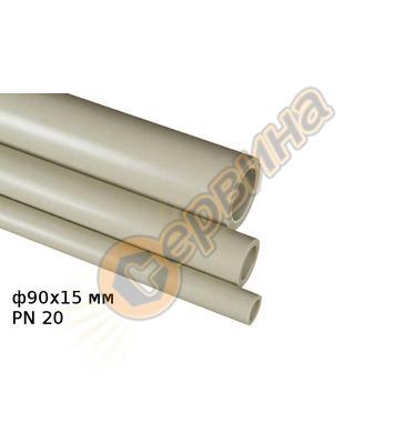ППР тръба FV Plast Ф90х15мм PN20 - 4 метра 101090