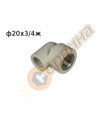 ППР коляно 90* MZD ф20x3/4 FV Plast  218021 - вътрешна резба