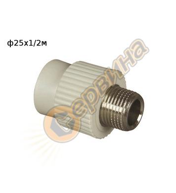 ППР DG преход MZV ф25x1/2 FV Plast 215024 - външна резба
