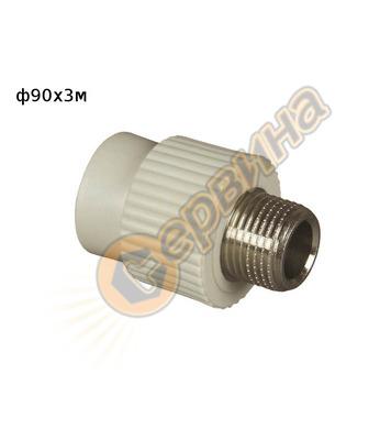 ППР DG преход MZV ф90x3 FV Plast 215090 - външна резба