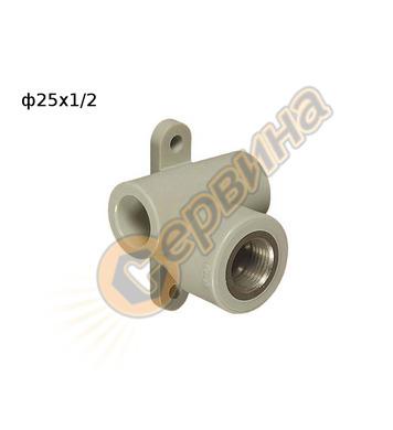 ППР стенен преход MZD ф25x1/2 FV Plast 220024 - вътрешна рез