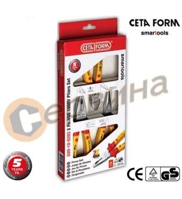 Клещи VDE 1000V 3бр. комплект Ceta Form G99-18-03A