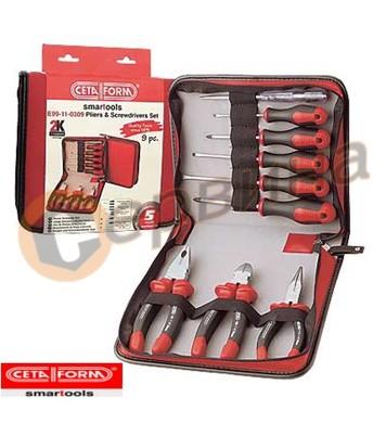 Клещи и отвертки комплект Ceta Form E99-11-0309 9бр
