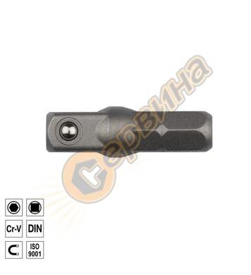 Адаптор-адаптер накрайник 1/4х1/4х25мм Ceta Form BT/7010