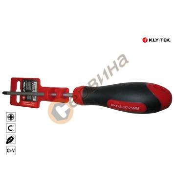 Отвертка Phillips PH1x4.0x125мм Kly-Tek KY4125