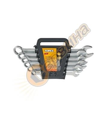 Ключ звездогаечен Topex 35D756 8бр - блистер