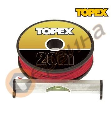 Пластмасов нивелир с корда Topex 7см - 1 либела 29C891